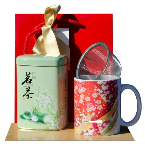 Gift Bag – Green Tea & Origami Crane Tea mug Japanese